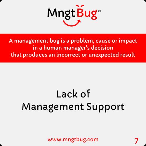 Management Bug 7 Lack of Management Support