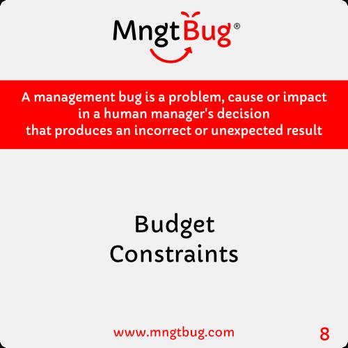 Management Bug 8 Budget Constraints