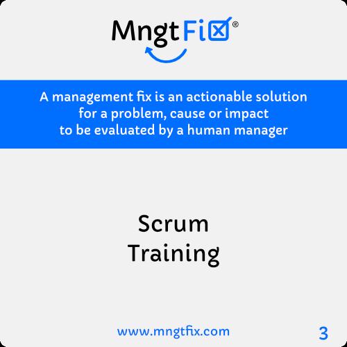 Management Fix 3 Scrum Training