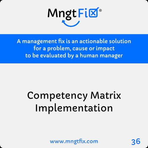 Management Fix 36 Competency Matrix Implementation