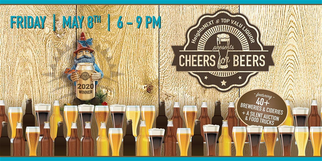 CANCELED: Cheers for Beers | Friday, May 8, 2020, 6-9PM