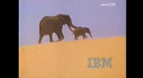 """elephants from IBM """"He Ain't Heavy"""" Commercial"""