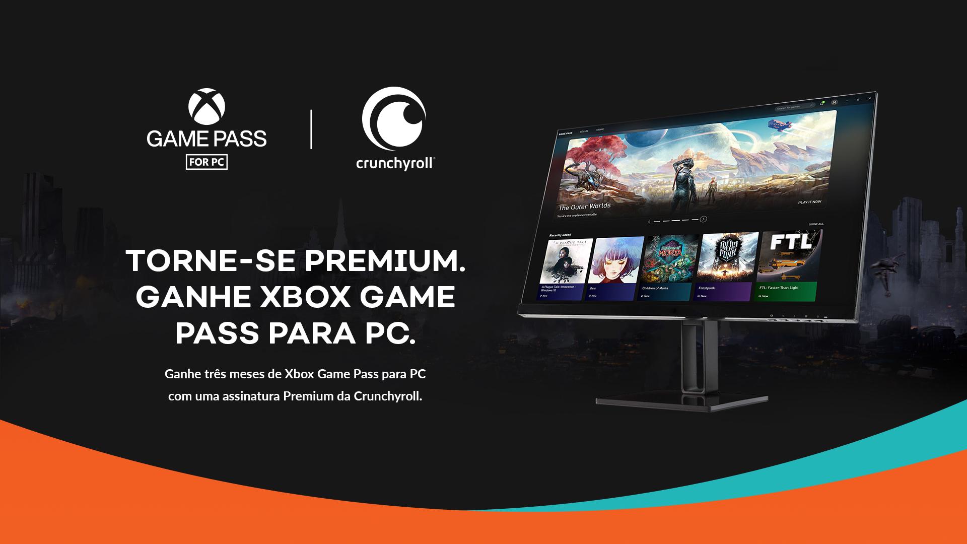 6c76a6a7 d2d5 5235 4cda 8813bb88e3e0 - Crunchyroll: usuários Premium ganharão 3 meses de Xbox Game Pass para PC