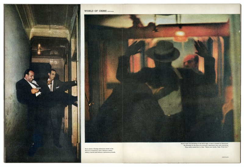 older images from 1957 - blurry and dark colours