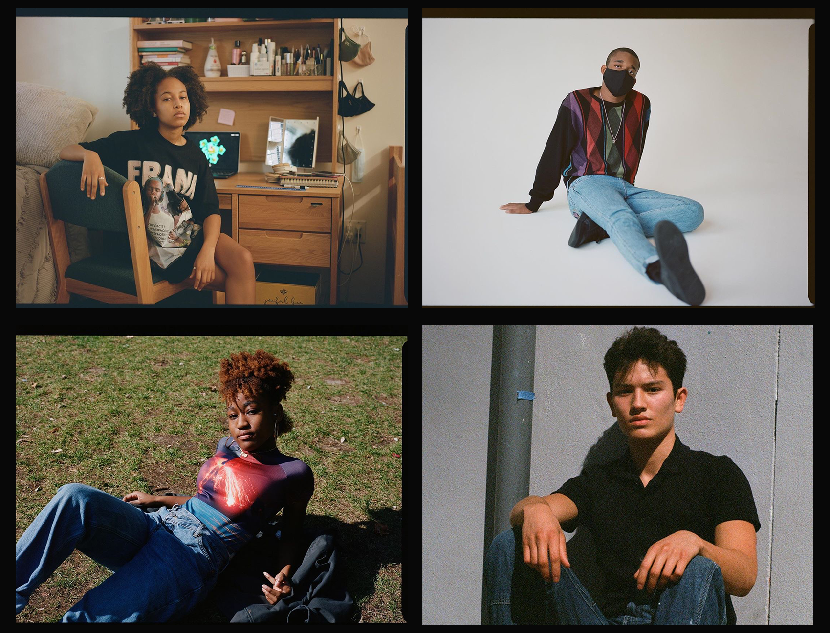 four images of young voters