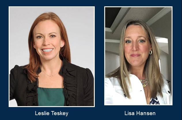 Leslie Teskey and Lisa Hansen