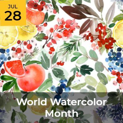 JUL 28 - World Watercolor Month