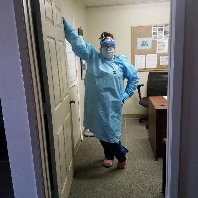 Staff Member Wearing PPE