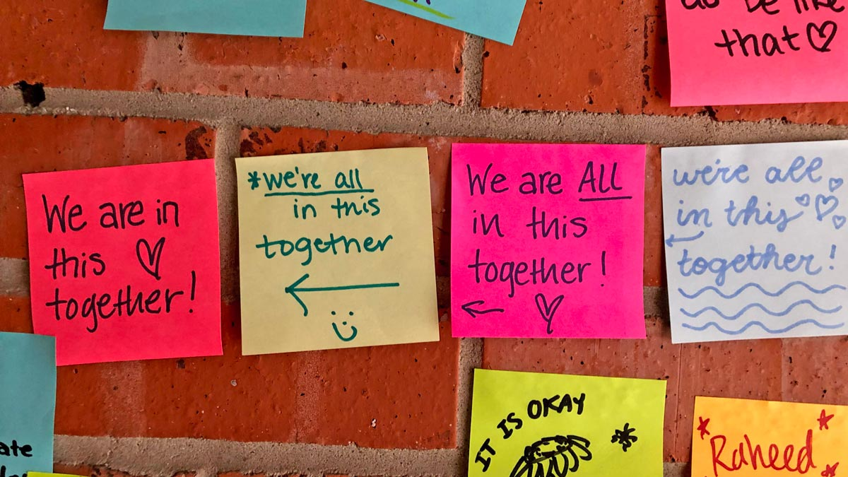 Post-it notes of support