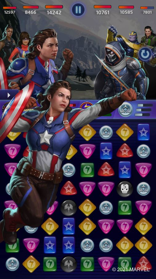 MARVEL Puzzle Quest - Peggy Carter (Ultimate Soldier Ability)