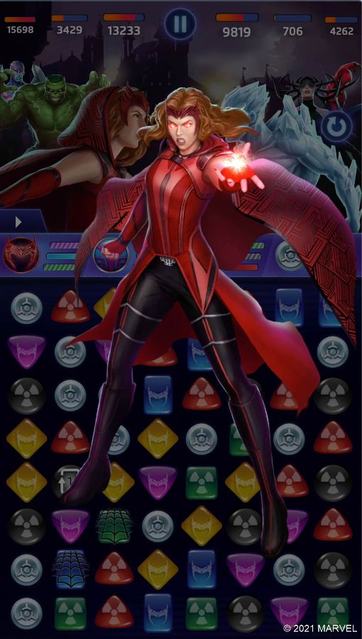 MARVEL Puzzle Quest - Scarlet Witch (Debilitating Hex Ability)