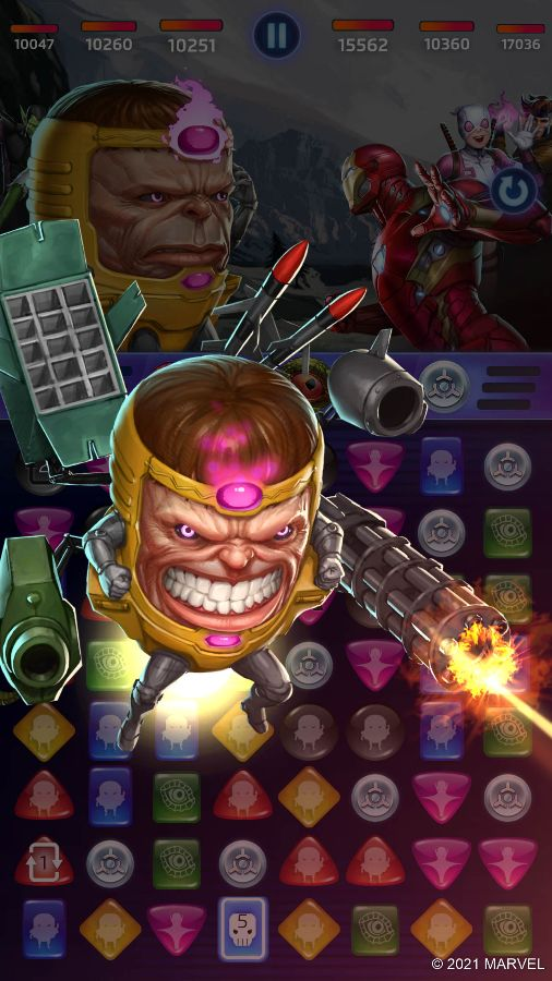 MARVEL Puzzle Quest - M.O.D.O.K. (A Hammer for Every Nail Ability)