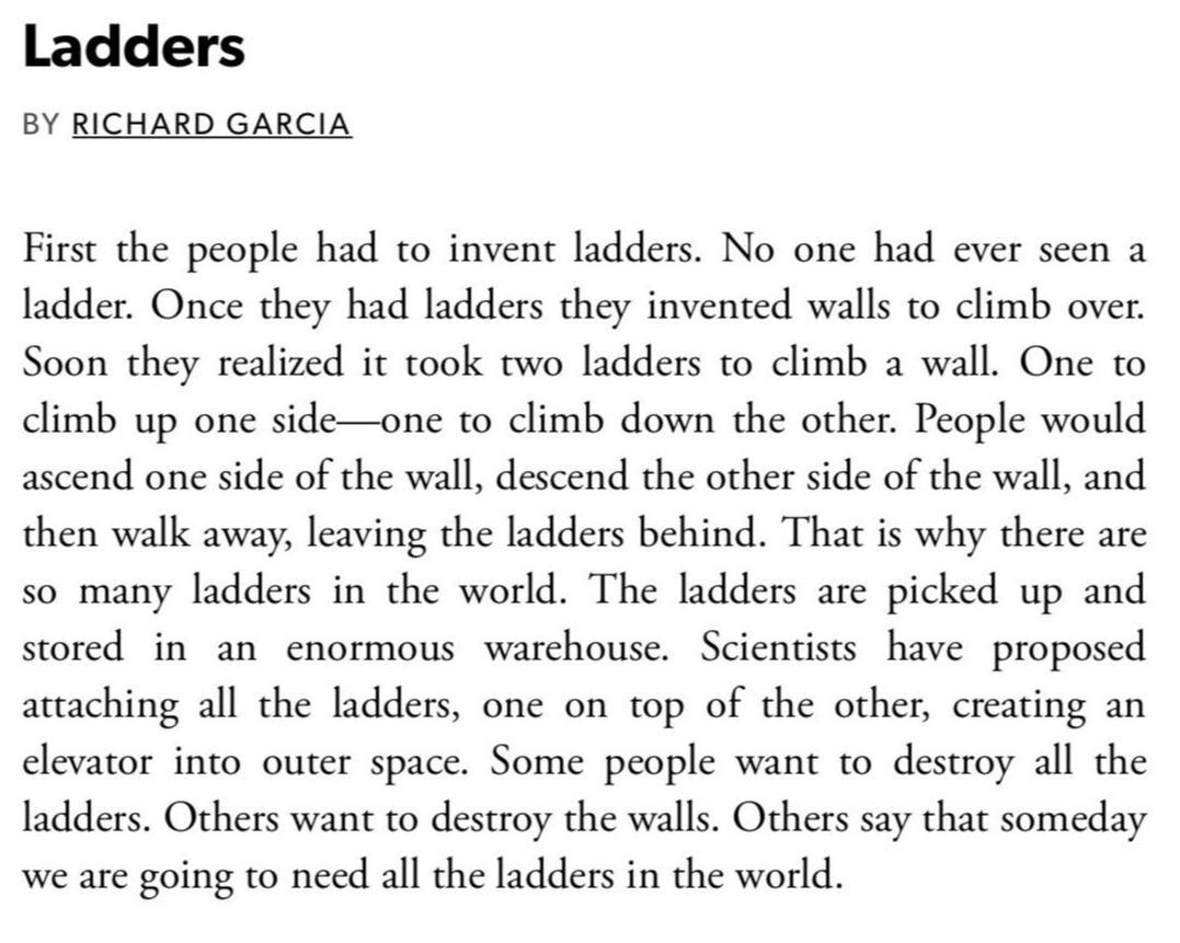 [Ladders by Richard Garcia]