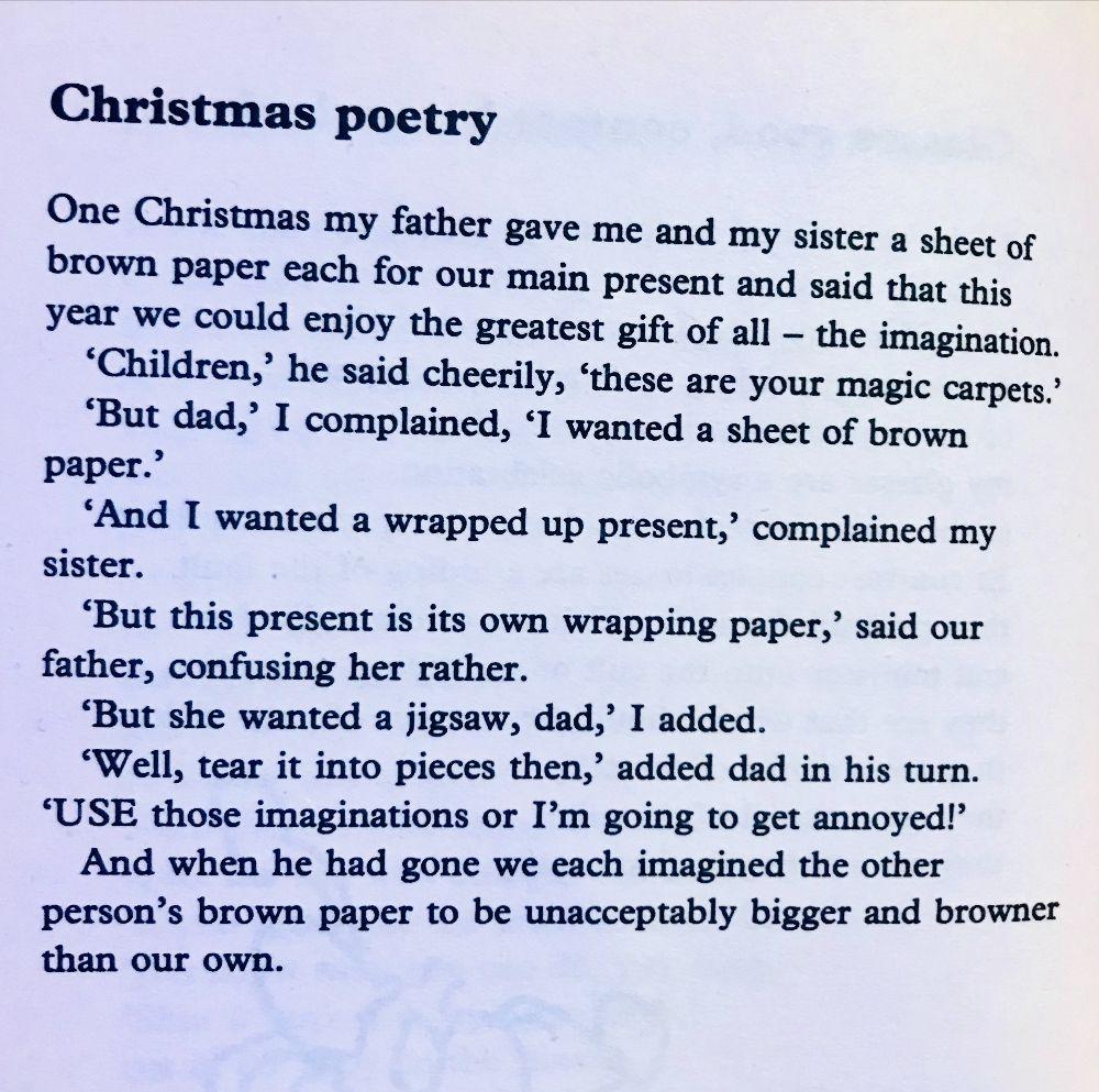 [Christmas Poetry by John Hegley]