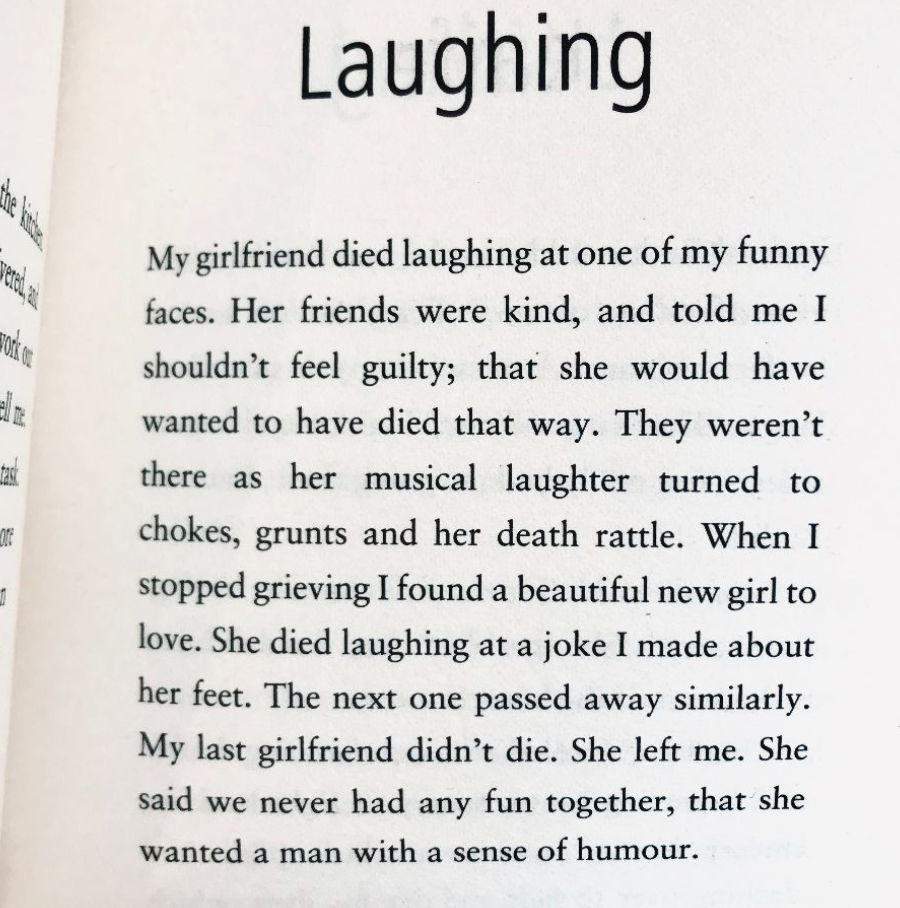 [Laughing by Dan Rhodes]