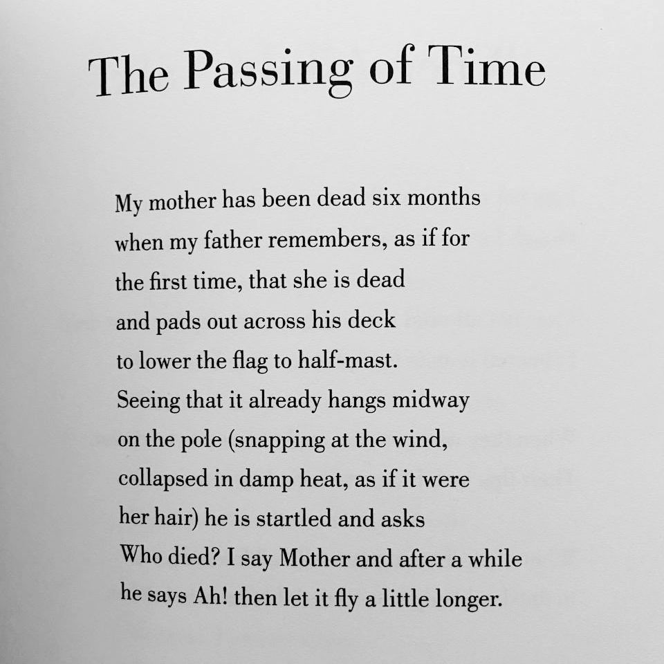 [The Passing of Time by Mary Ruefle]
