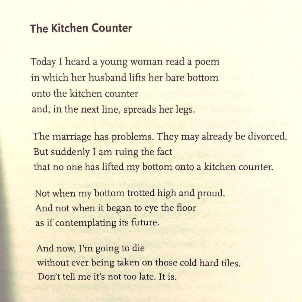 [The Kitchen Counter by Ellen Bass]