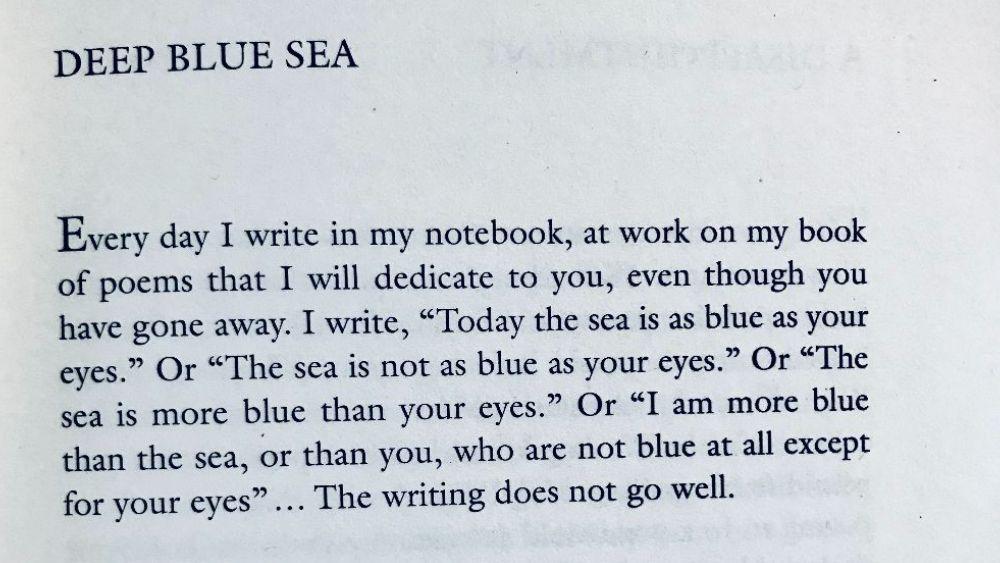 [Deep Blue Sea by Louis Jenkins]