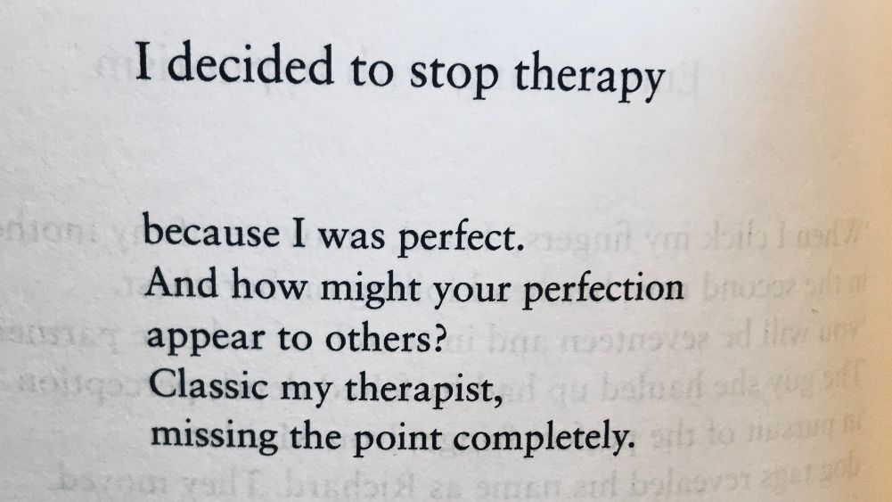 [I Decided To Stop Therapy by Joe Dunthorne]