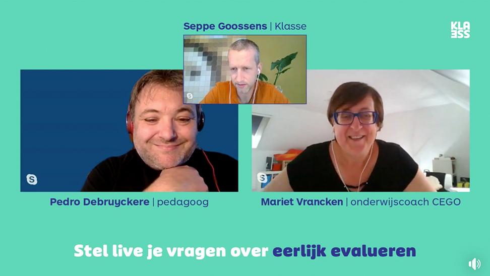 beeld van een facebook live met 3 sprekers