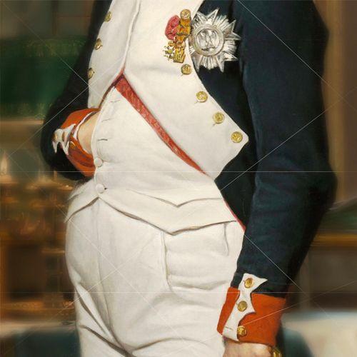 Napoleon met zijn hand in zijn vestzak