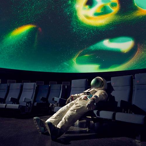 Astronaut in de Cosmodrome in Genk