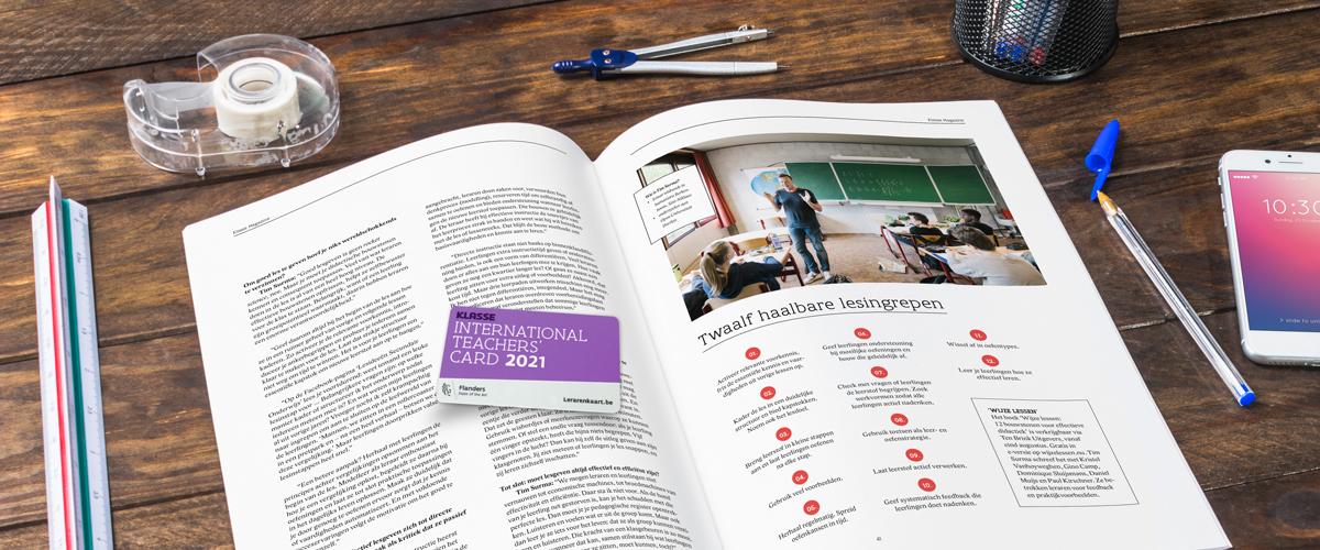 Klasse Magazine met je Lerarenkaart 2021
