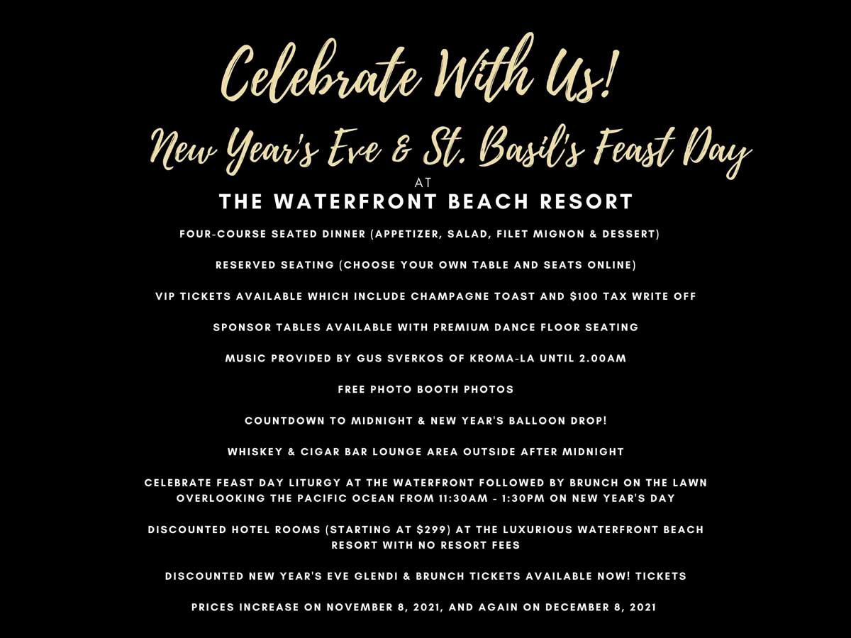 St. Basil 2022 New Year's Glendi & Feastday Brunch