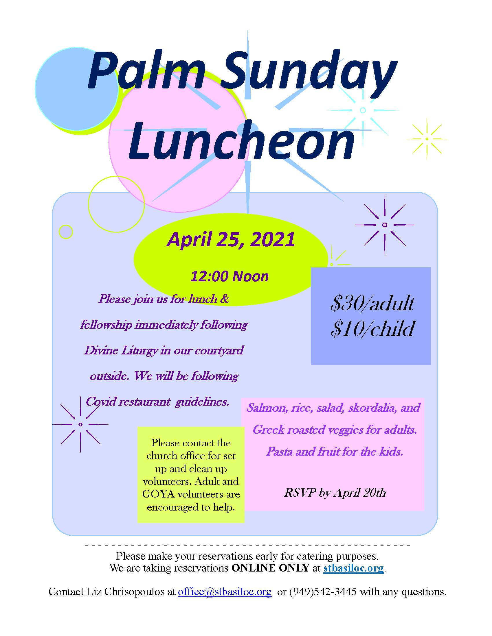 Palm Sunday Luncheon