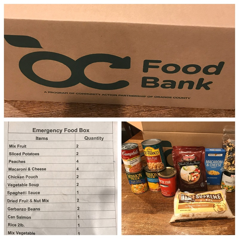 Non - Perishable Food Boxes Available For Those In Need