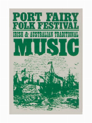 Port Fairy Folk Festival's first poster image