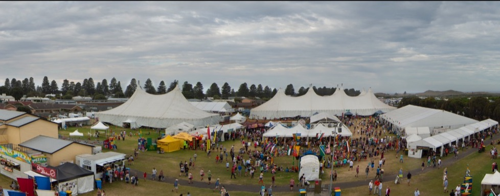 Overhead view of Arena during Festival time