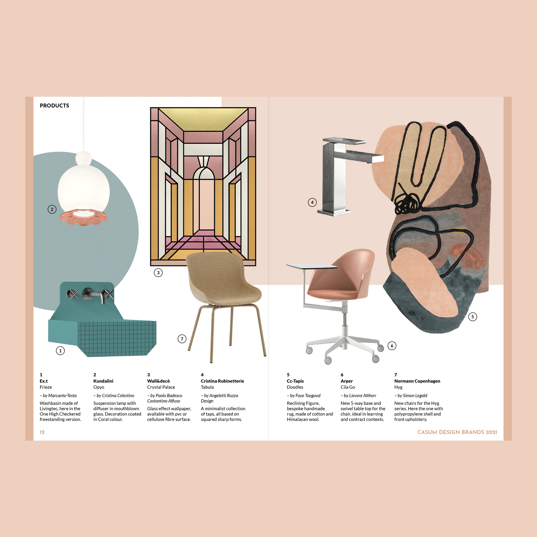 Casum Design Brands contents. Products