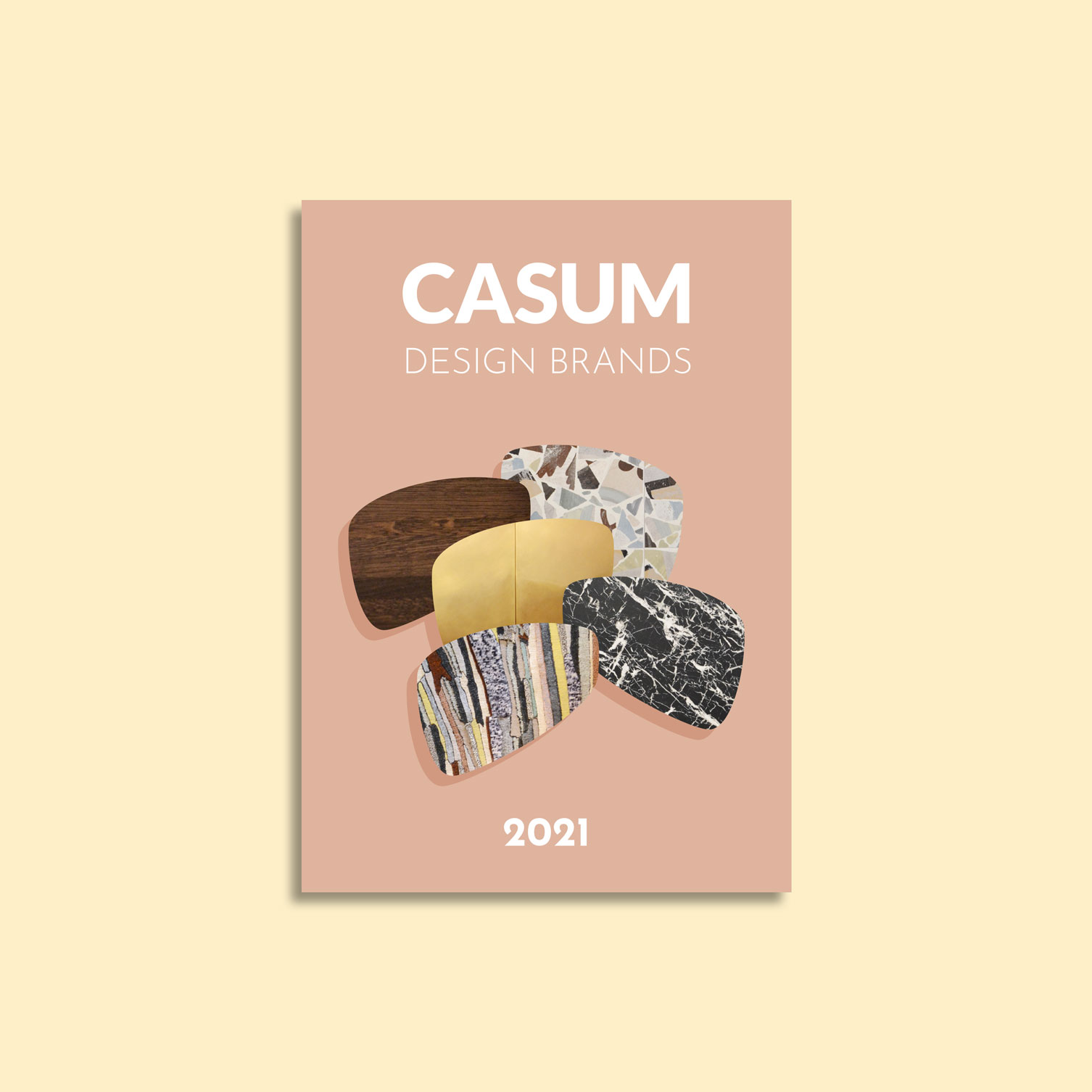 Casum timeline. Cover of the first edition of Casum Design Brands