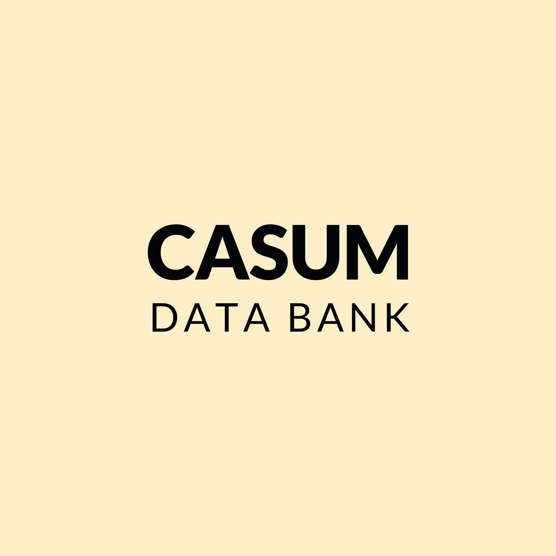 Casum timeline. Casum Data Bank logo