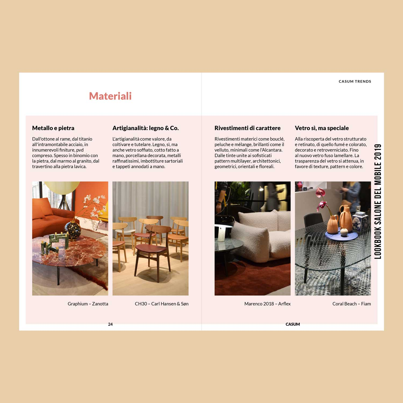 Casum Lookbook contents. Casum Trends