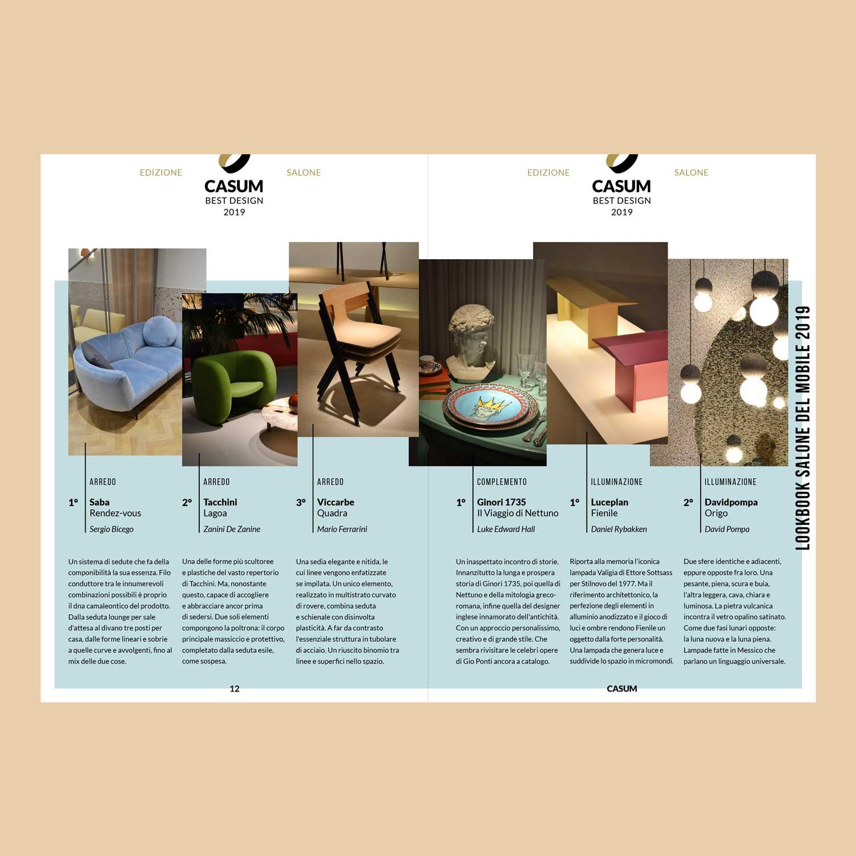 Casum Lookbook contents. Casum Best Design