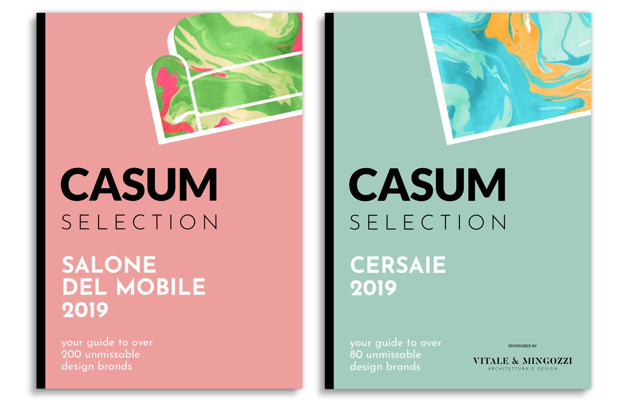 Casum Selection Salone del Mobile 2019 and Casum Selection Cersaie 2019 covers