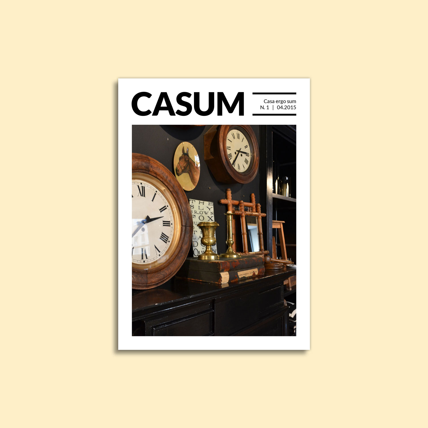 Casum timeline. Cover of the first issue of Casum