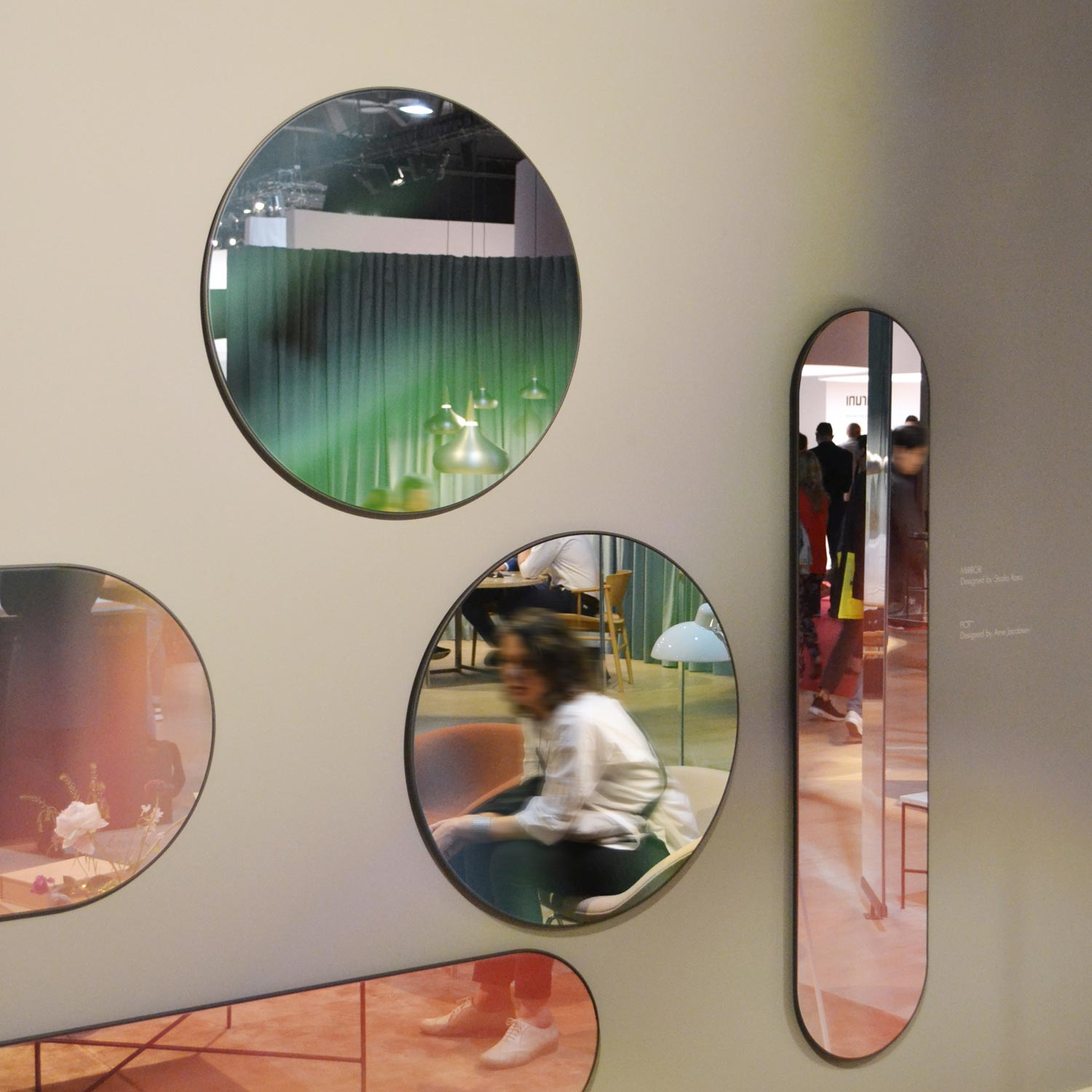Casum Trends Salone del Mobile 2018. Mirrors at Fritz Hansen booth