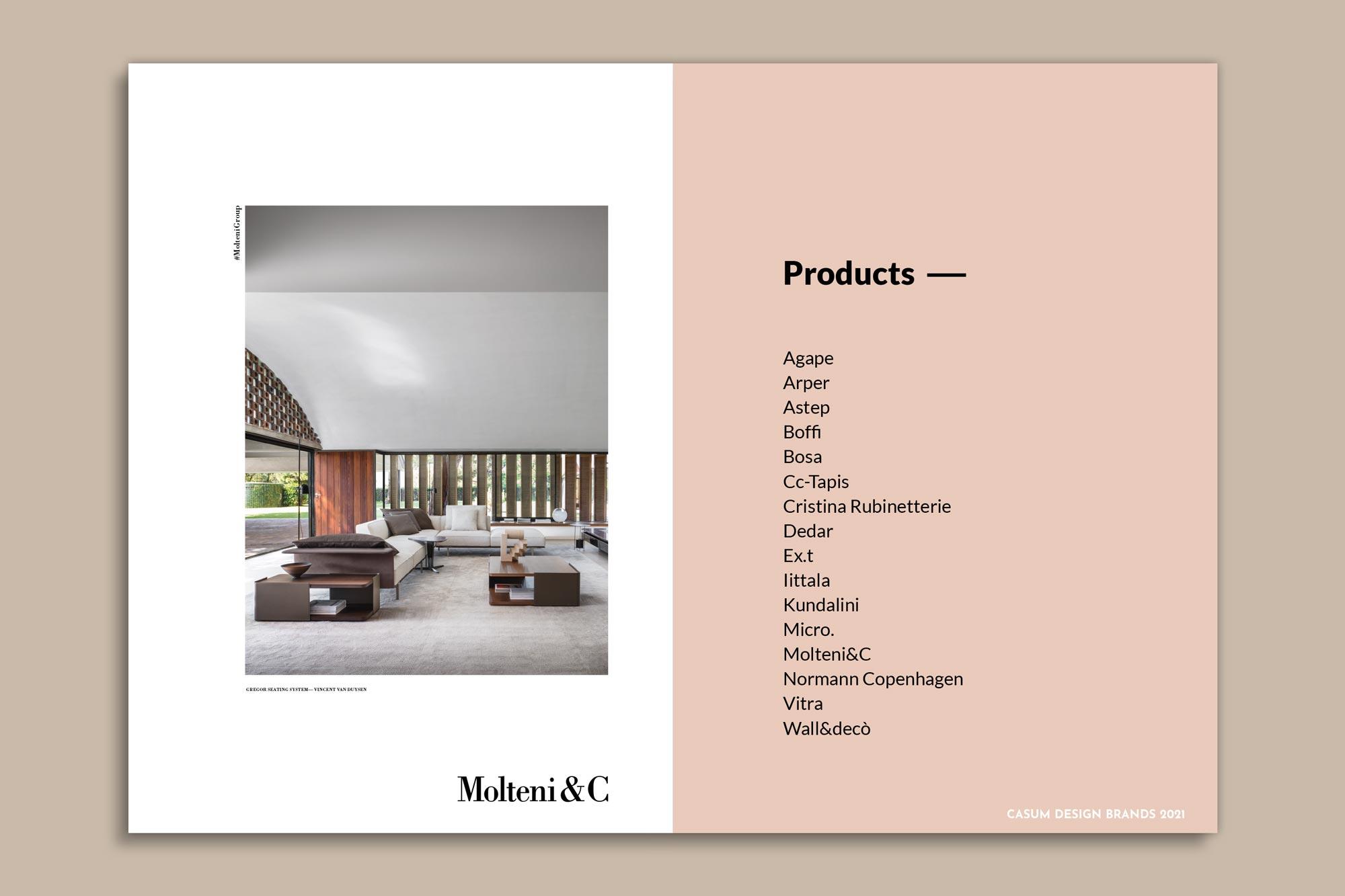 Sponsorshio on Casum Design Brands 2021. Molteni adv