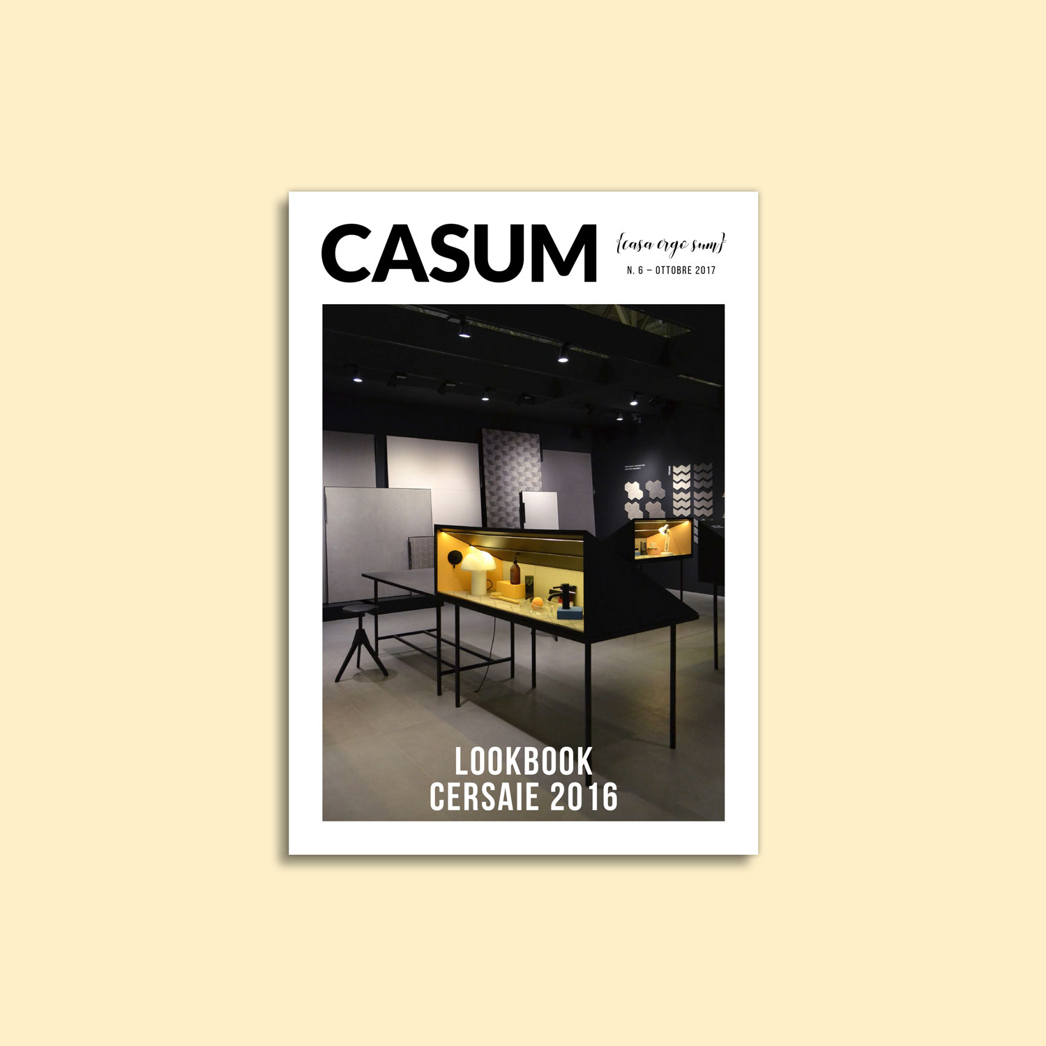 Casum timeline. Cover of the first edition of Casum Lookbook