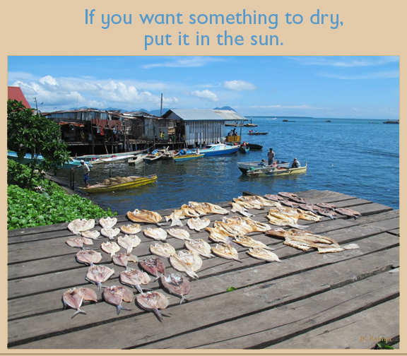 Images: fish drying in the sun