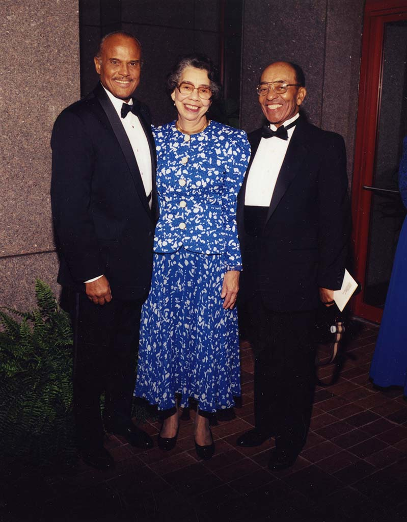 Harry Belafonte, Esther Williams, and Waverly Glover