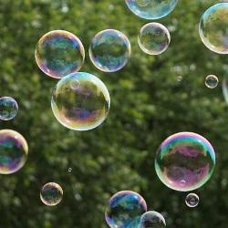 bubbles floating outside