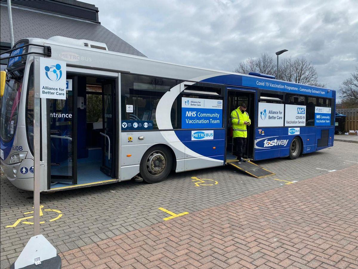 The Metrobus vaccine bus