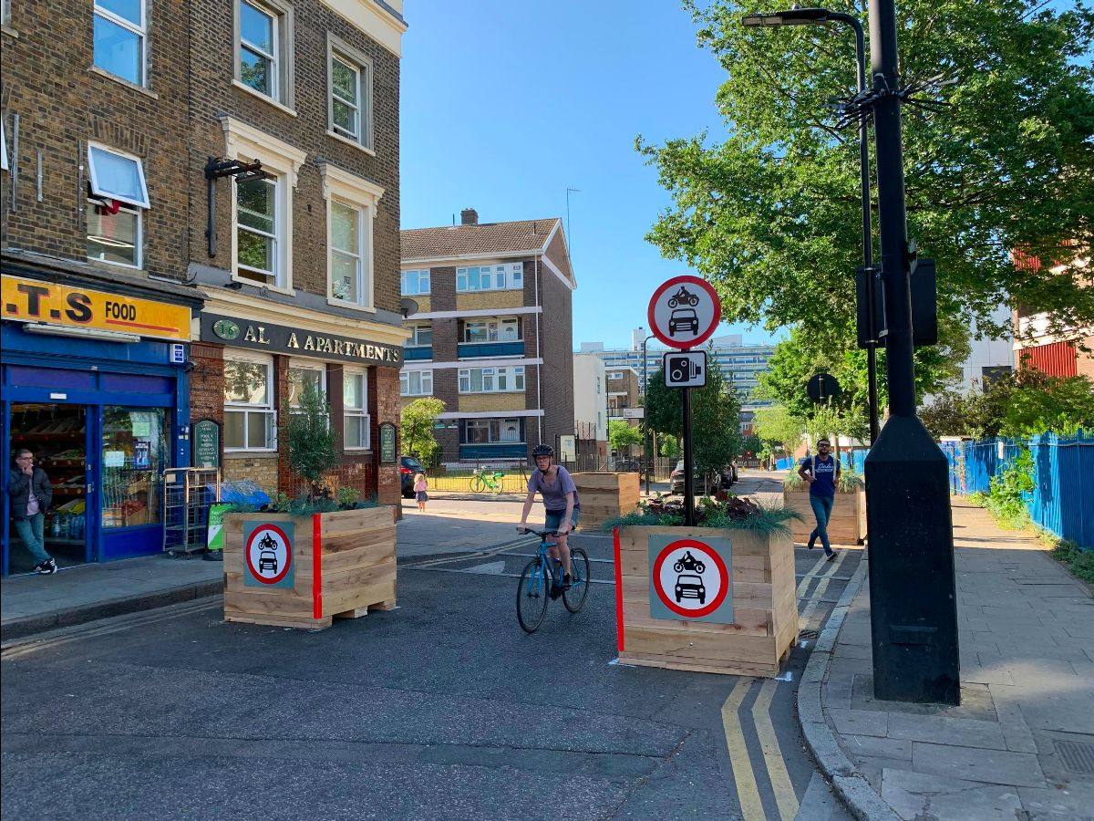 A 'modal filter' introduced by the London Borough of Hackney this summer