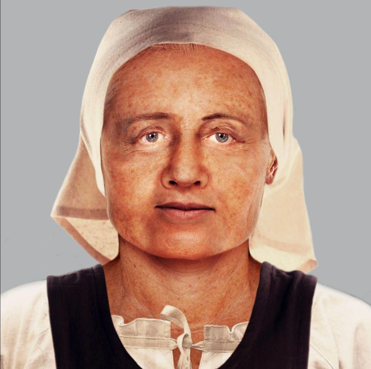 Tram Extension facial reconstruction of SK100 by Viviana Conti
