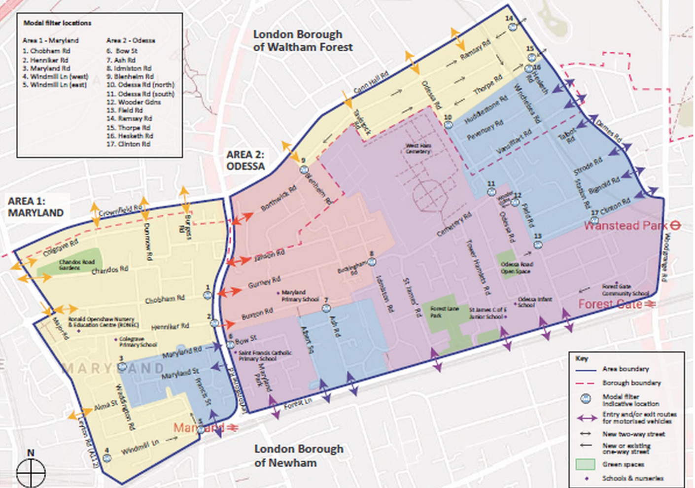 Low Traffic Neighbourhood connects Newham and Waltham Forest