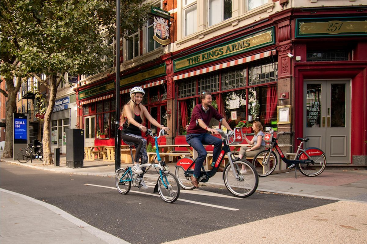 TfL opens protected cycleway in SE London